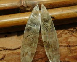 Green Rutilated earring pendant (G2162)