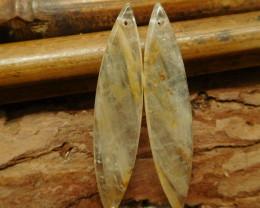 Yellow quartz earring bead (G2169)