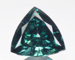 0.10Cts Natural Diamond Flashing Blue Fancy  Africa