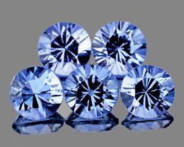 3.50 mm Round 5 pcs Light Ceylon Blue Sapphire [VVS]