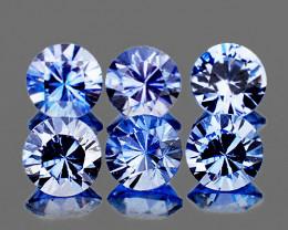 3.30 mm Round 6 pcs Light Ceylon Blue Sapphire [VVS]
