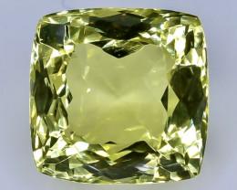 11.43 Crt Natural Lemon Quartz Faceted Gemstone.( AB 8)