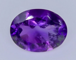 1.38 Crt Natural Amethyst  Faceted Gemstone.( AB 8)