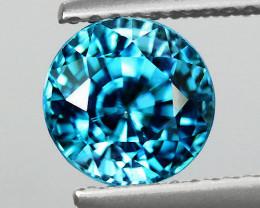 6.00 mm Round 1.27cts Blue Zircon [VVS]
