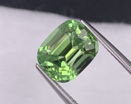 3.93 Cts Apple Green AAA Grade Afghanistan Natural Tourmaline Fine Cut