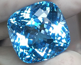 35.13 CT CERTIFIED GORGEOUS SWISS BLUE TOPAZ