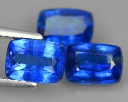 3.60 CTS EXCELLENT CORN FLOWER BLUE KYANITE CUSHION GEM!
