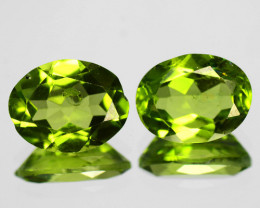 3.32 Cts 2 Pcs Paired Green Color Natural Peridot Gemstone