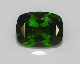 1.45 CTS NATURAL ULTRA RARE CUSHION CHROME GREEN DIOPSIDE RUSSIA~