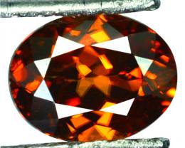 ~BEAUTIFUL~ 2.70 Cts Natural Reddish Orange Zircon Oval Cut Tanzania