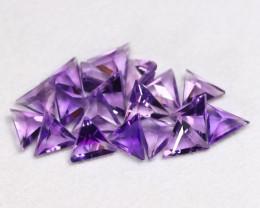 Amethyst 6.25Ct 19Pcs Trillion Cut Natural Purple Amethyst Lot B0608