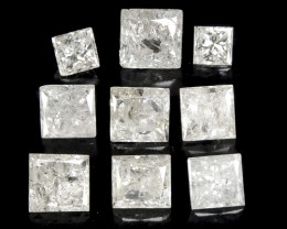 1.01 Cts 9 PcsUntreated Fancy White Color Natural Loose Diamonds