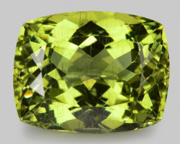 12.87 Cts Un Heated Natural Green Apatite Loose Gemstone
