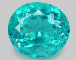 4.55 Cts Un Heated Natural Green Apatite Loose Gemstone