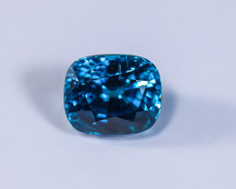 4.54ct Lab Certified Blue Cambodian Zircon