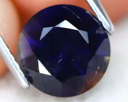 Iolite 1.54Ct Round Cut Natural Purplish Blue Color Iolite C0617