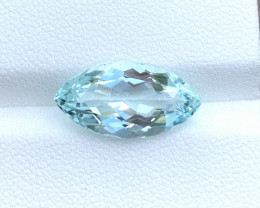 GFCO Certified 5.00 Cts Natural Blue Aquamarine Gemstone