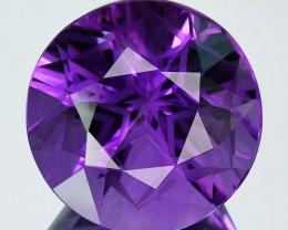 ~CUSTOM CUT~22.30 Cts Natural Purple Amethyst Round Bolivia