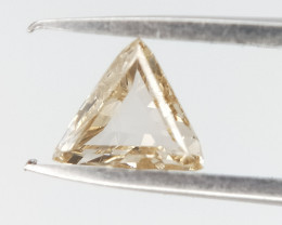 0.16 CTS , Triangle Brilliant Diamond , Light Champagne Diamond