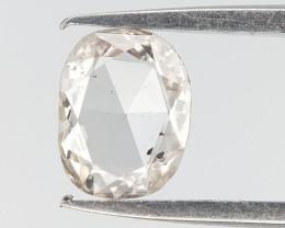 0.14 CTS , White Oval Cut Diamond , Rose Cut Diamond