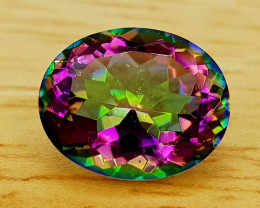 2.39Crt Natural Mystic Quartz Natural Gemstones JI67
