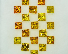3.11 Cts Natural Yellow Sapphire Square 3.50mm Princess Parcel