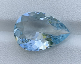 GFCO Certified 7.22 Cts Natural Aquamarine Gemstone
