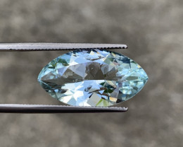 GFCO Certified 8.02 Carats Natural Aquamarine Gemstone