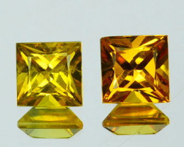0.92Cts Natural Yellow Sapphire Square Princess 4mm Thailand