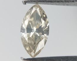 0.12 CTS , Marquise Brilliant Cut Diamond , Grey Diamond