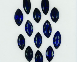 4.98Cts Natural Vivid Blue Sapphire Marquise 13 Pcs Madagascar