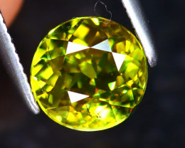 Sphene 1.34Ct Natural Rainbow Flash Green Sphene DR341/S41