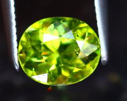 Sphene 1.33Ct Natural Rainbow Flash Green Sphene DR342/S41