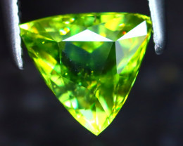 Sphene 1.30Ct Natural Rainbow Flash Green Sphene DR343/S41