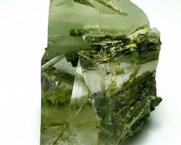 Amazing Natural color Damage free Quartz have inside Epidote Crystal 160Cts