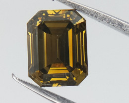 Certified Natural Diamond , 0.71 cts , Natural Color Diamond , Emerald Cut
