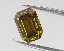 0.44 CT , Rare Fancy tone Diamond , Emerald Diamond