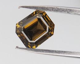 0.51 CTS , Green Diamond , Emerald Brilliant Cut Diamond
