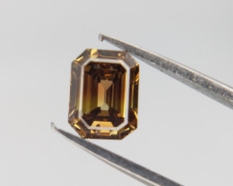 0.43 CTS , Rare Natural Diamond , Emerald Brilliant cut