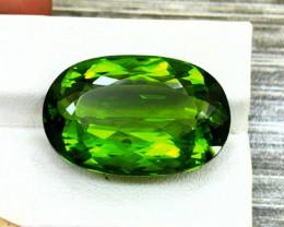 Peridot, 39.05 Ct Top Quality Oval Shape Peridot Gemstone