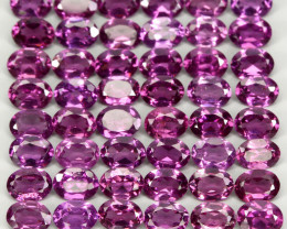 10.37ct 50 pcs 4x3mm  100% Natural Neon Purple Rhodolite Garnet Malawi Lot