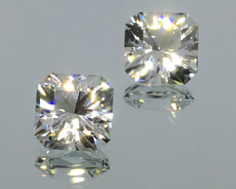 8.00 Carat IF Topaz Master Cut Nigerian No Heat Pair 2 for 1 Perfection !