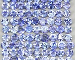 6.61 Ct 85 Pcs. 2.6 Mm  Natural Rich Blue Violet Tanzanite Unheated Lot