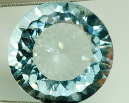 Huge! 28.63 ct Round Natural Unheated Greenish Blue Aquamarine, Brazil