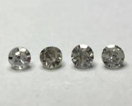 0.06 ct 4 x Light Grey Si - i2 Single Cut Round Diamond