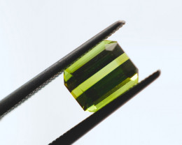 FREE SHIP! 1.7 CT Vivid Green Tourmaline (Mozambique)