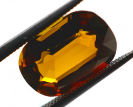 FREE SHIP! 4.1 CT Dark Amber-Green Tourmaline (Mozambique)
