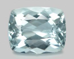 3.07 Cts Un Heated  Blue  Natural Aquamarine Loose Gemstone