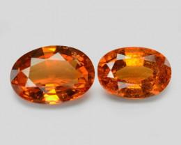1.85 Cts 2 Pcs Natural Orange - Red Spessartite Garnet Loose Gemstone