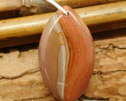 Red creek jasper pendant bead (G2195)